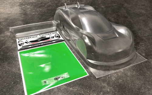 Exotek Racing 1884 J-Zero 1/10 Clear Lexan USGT Race Body with Wing