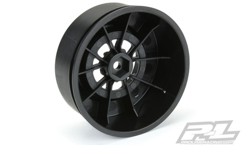 Pro-Line 2776-03 Pomona Drag Spec Rear Drag Racing Wheels w/ 12mm Hex (Black) (2)