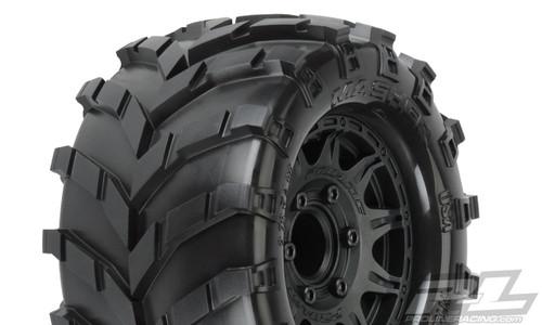 "Pro-Line 1192-01 Masher 2.8"" Pre-Mounted w/Raid Electric Rear Wheels (M2) (Black) (2)"