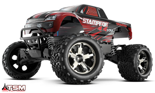 Traxxas Stampede 4X4 VXL Brushless 1/10 4WD RTR Monster Truck w/ TSM & TQi Radio (Red)