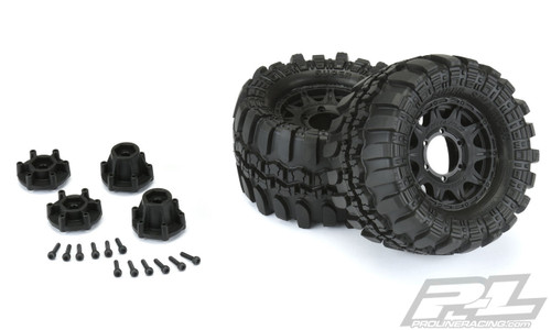 "Pro-Line Interco TSL SX Super Swamper 2.8"" Pre-Mounted Tires w/Raid Rear Wheels (M2) w/ 12mm Removal Hex (2)"