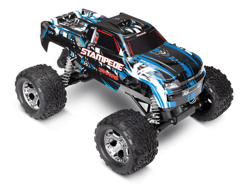 Traxxas Stampede 1/10 Scale Monster Truck Ready-to-Race with TQi 2.4GHz radio system and XL-5 ESC (fwd/rev) No Battery or Charger (Blue)