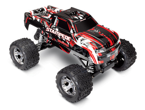 Traxxas Stampede 1/10 Scale Monster Truck Ready-to-Race with TQi 2.4GHz radio system and XL-5 ESC (fwd/rev) No Battery or Charger (Red)