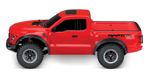Traxxas 2017 Ford Raptor RTR Slash 1/10 2WD Truck w/TQ 2.4GHz Radio, Battery & DC Charger (Red)