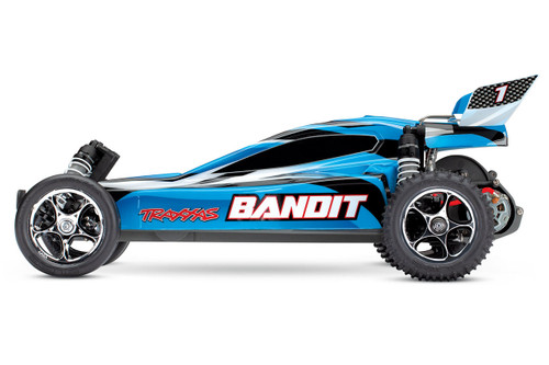 Traxxas Bandit 1/10 Scale Off-Road Buggy with TQ 2.4GHz Radio System (Blue)