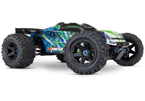 Traxxas E-Revo VXL 2.0 RTR 4WD Electric Monster Truck w/VXL-6s ESC & TQi 2.4GHz Radio (Green)