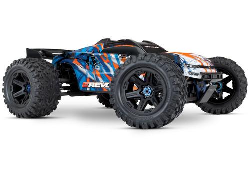 Traxxas E-Revo VXL 2.0 RTR 4WD Electric Monster Truck w/VXL-6s ESC & TQi 2.4GHz Radio (Orange)