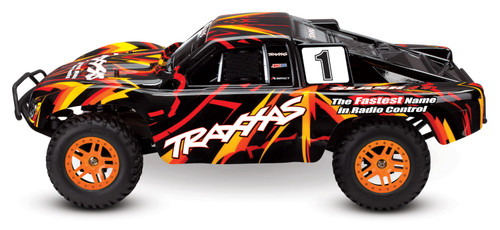 Traxxas Slash 4X4 RTR 4WD Brushed Short Course Truck with DC charger/battery (Orange)