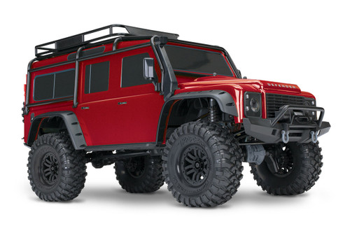 Traxxas TRX-4 1/10 Scale Trail Rock Crawler w/Land Rover Defender Body w/XL-5 ESC & TQi 2.4GHz Radio (Red)