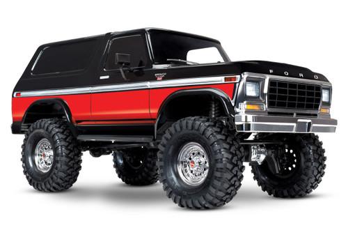 Traxxas TRX-4 1/10 Trail Crawler Truck w/'79 Bronco Ranger XLT Body w/TQi 2.4GHz Radio (Red)
