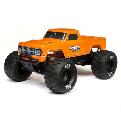 ECX 1/10 Amp Crush 2WD Monster Truck Brushed RTR (Orange)