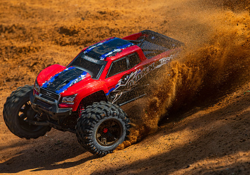 Traxxas X-Maxx 8S 4WD Brushless RTR Monster Truck w/ 2.4GHz TQi Radio and TSM (Red)