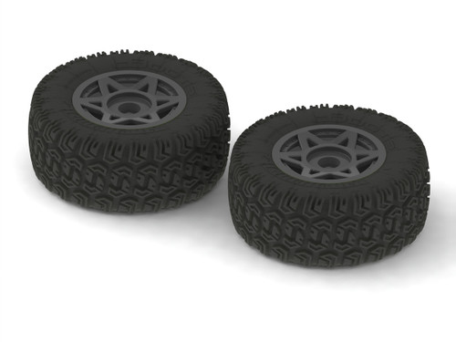 Arrma 550003 6S Glued Dboots Sidewinder Tires & Wheel Set (Black) (2)