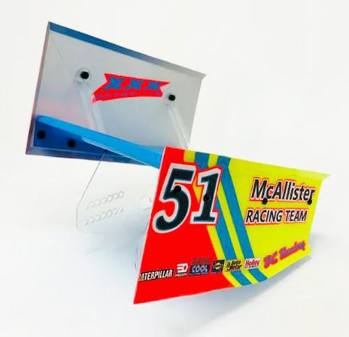 McAllister Racing #435 Sprint Top Wing 7x7