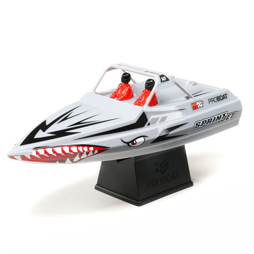 Pro Boat Sprintjet 9 Inch Self-Righting RTR Electric Jet Boat w/2.4GHz Radio, Battery and Charger (Silver)
