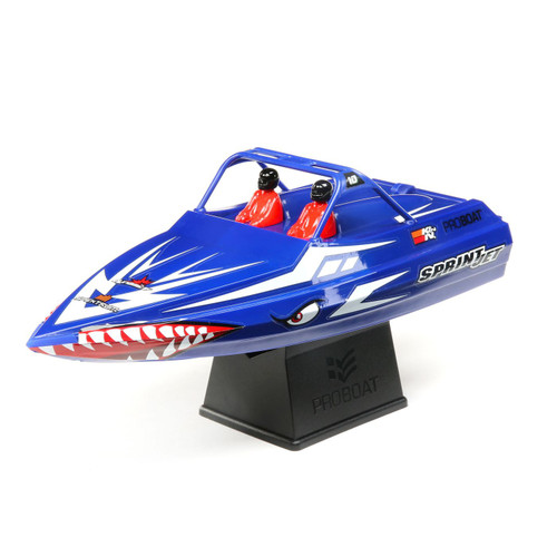 Pro Boat Sprintjet 9 Inch Self-Righting RTR Electric Jet Boat w/2.4GHz Radio, Battery and Charger (Blue)