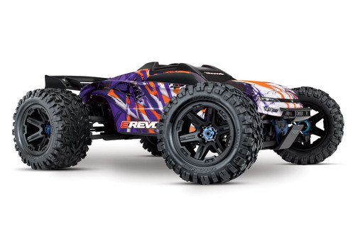 Traxxas E-Revo VXL 2.0 RTR 4WD Electric Monster Truck w/VXL-6s ESC & TQi 2.4GHz Radio (Purple)