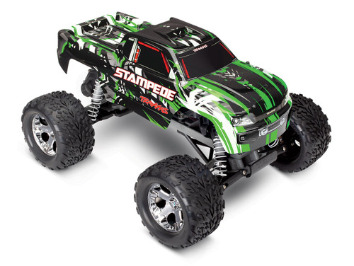 Traxxas Stampede 1/10 RTR Monster Truck w/XL-5 ESC, TQi 2.4GHz Radio, Battery & DC Charger (Green Edition)