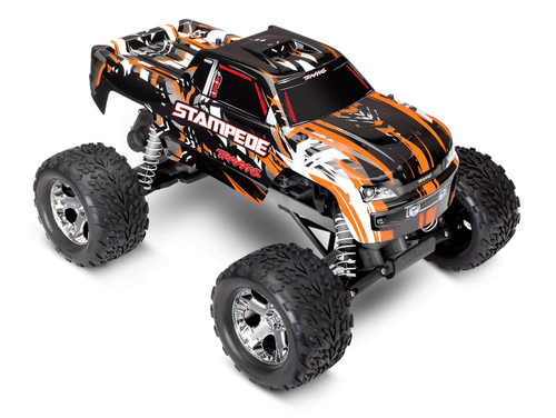Traxxas Stampede 1/10 RTR Monster Truck w/XL-5 ESC, TQi 2.4GHz Radio, Battery & DC Charger (Orange Edition)