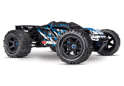 Traxxas E-Revo VXL 2.0 RTR 4WD Electric Monster Truck w/VXL-6s ESC & TQi 2.4GHz Radio (Blue)
