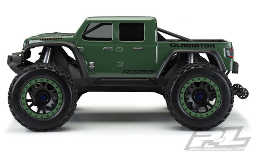 Pro-Line 3533-17 Jeep Gladiator Rubicon Pre-Cut Monster Truck Body (Clear) (X-Maxx)