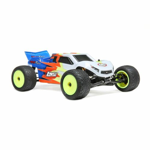 Losi 1/18 Mini-T 2.0 2WD Stadium Truck RTR, Blue/White