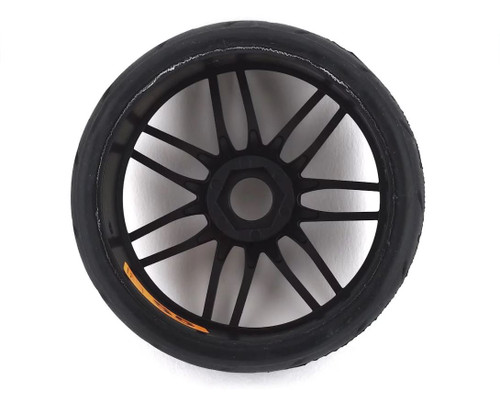 GRP GT-TO1 Revo Belted Pre-Mounted 1/8 Buggy Tires (Black) (2) (S7) w/17mm Hex