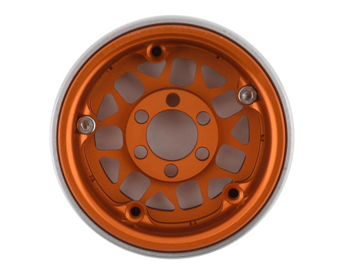 Vanquish 07715 KMC XD127 Bully 1.9 Beadlock Crawler Wheels (Orange) (2)