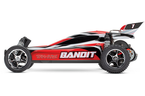 Traxxas Bandit 1/10 RTR Buggy w/XL-5 ESC, TQ 2.4GHz Radio, Battery & DC Charger (Red)
