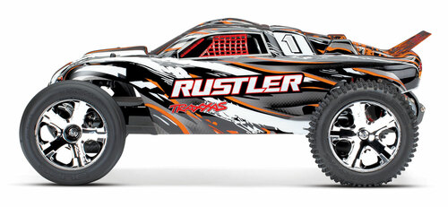 Traxxas Rustler 1/10 RTR Stadium Truck w/XL-5 ESC, TQ 2.4GHz Radio, Battery & DC Charger (Orange)