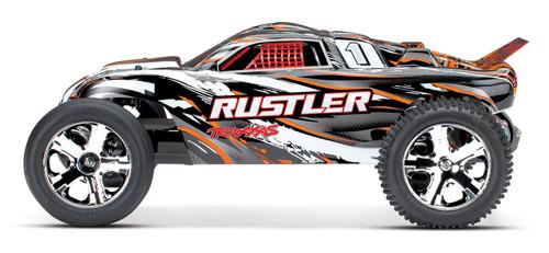 Traxxas Rustler 1/10 RTR Stadium Truck w/XL-5 ESC, TQ 2.4GHz Radio, Battery & DC Charger (Orange)