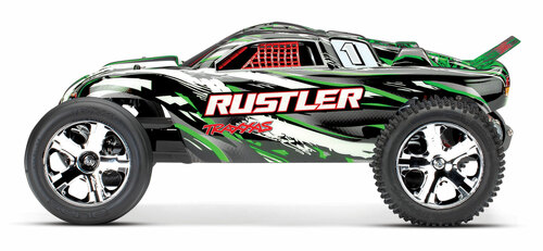 Traxxas Rustler 1/10 RTR Stadium Truck w/XL-5 ESC, TQ 2.4GHz Radio, Battery & DC Charger (Green)