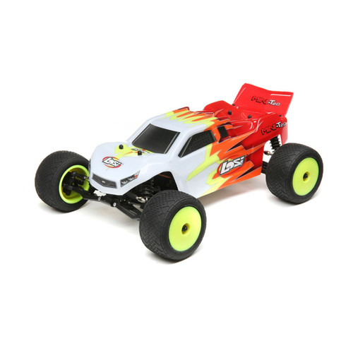 Losi 1/18 Mini-T 2.0 2WD Stadium Truck RTR, Red/White