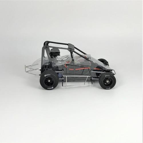 1 RC Racing 1/18 Midget 2.0, Clear, RTR