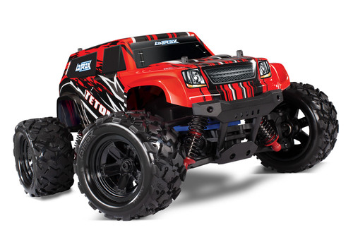 Traxxas LaTrax Teton 1/18 4WD RTR Monster Truck w/ 2.4GHz Radio, Battery and AC Charger Red
