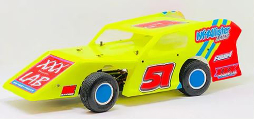 McAllister Racing #320 High Side Tickler Midwest Modified Body w/ Decal