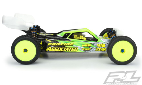 Pro-Line 3538-25 RC10B6.1/B6.1D Axis 2WD 1/10 Buggy Body (Clear) (Light Weight)