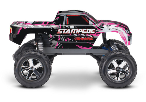 Traxxas Stampede 1/10 RTR Monster Truck w/XL-5 ESC, TQi 2.4GHz Radio, Battery & DC Charger (Pink Edition)