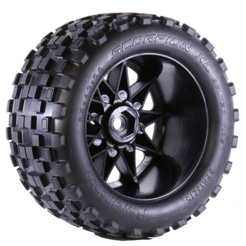 PowerHobby Scorpion XL Belted Tires, w/ Viper Wheels, Xmaxx 8S
