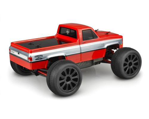 JConcepts 0382 1982 GMC K10 Body (Clear), Traxxas 1/16 E-Revo