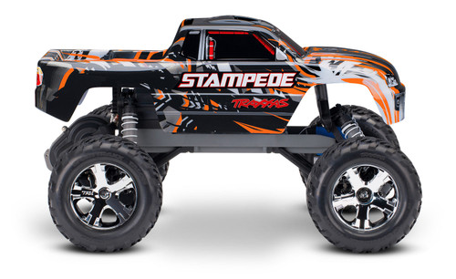 Traxxas Stampede 1/10 Scale Monster Truck Ready-to-Race with TQi 2.4GHz radio system and XL-5 ESC, No Battery or Charger (Orange)