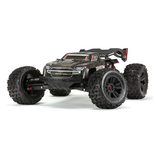 Arrma  1/8 Kraton Extreme Bash Roller Speed Monster Truck, Black