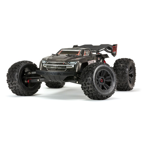 Arrma  1/8 Kraton Extreme Bash Roller Speed Monster Truck, Black