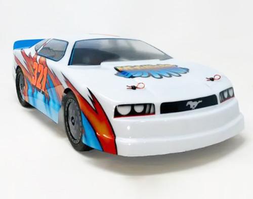 "McAllister Racing #321 ""Crowd Pleaser"" Mustang Street Stock Body w/ Decal"