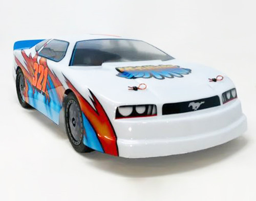 "McAllister Racing #321 ""Crowd Pleaser"" Mustang Street Stock Body w/ Decal"