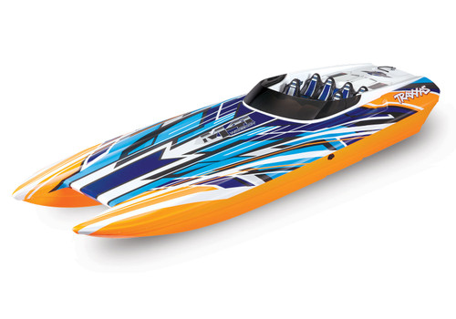 "Traxxas DCB M41 Widebody 40"" Catamaran High Performance 6S Race Boat w/ TQi 2.4GHz Radio & TSM (Orange)"
