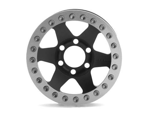 Vanquish 07763 Method MR310 1.9 Beadlock Crawler Wheels (Black/Silver) (2)