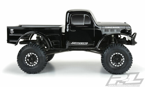 "Pro-Line 3499-18 1946 Dodge Power Wagon 12.3"" Tough-Color Rock Crawler Body (Black)"