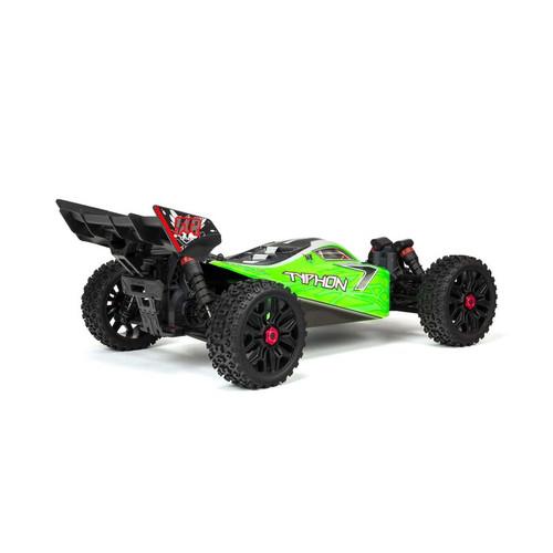 Arrma Typhon 4X4 V3 550 Mega RTR 4WD Buggy (Green) w/ Spektrum SLT3 2.4GHz Radio