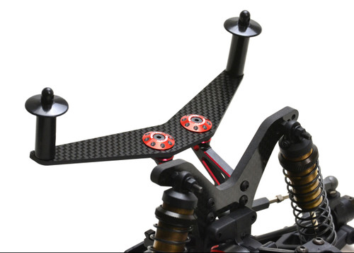 Exotek Racing 1954 Carbon Fiber Rear Body Mount Plate, TLR 22/RB7